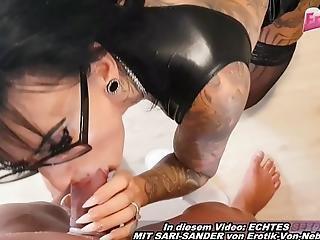 German Amateur Big Tits Tattoo Milf Cleanup Housewife Creampie Pov