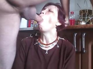 Mature Mom Getting Rough Deepthroat Fuck Ends Cum On Her Face
