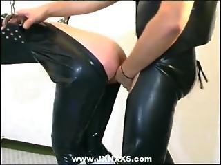 Leather Clad Couple Fucks Hard