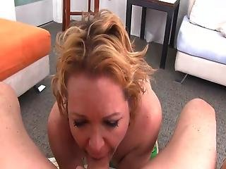 Aged Blonde Kelly Leigh Sucks And Has The Mouthful Of Cum