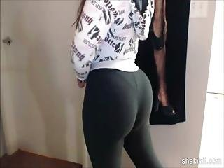 Booty, Gym, Latina, Teasing, Webcam, Workout, Workplace