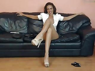 ερασιτεχνικό, τακούνια, ψηλά τακούνια, μακριά πόδια, Milf, Ελαφρό, Teasing