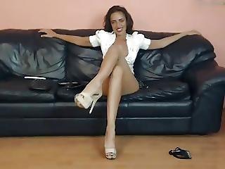 Bj Long Legged Milf Teasing In High Heels