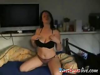 Busty Milf Shows Tits And Pussy On Cam