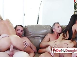 Gorgeous Babes Pounded By Friends
