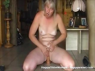 Great Orgasm Of Mature Housewife. Amateur Older