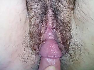 Wife Pissing While I Fuck Her Pussy Close Up With Creampie