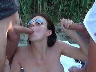 Anal, Double Penetration, Dp, Outdoor, Penetration, Sandwich, Teen