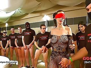 German Goo Girls Blindfolded Milf Bukkake Gangbang