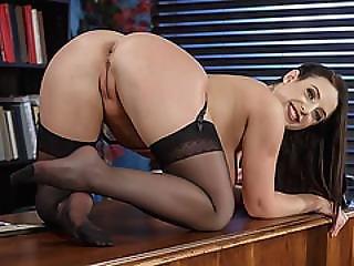 Busty Milf Angela White Deepthroats A Rock Hard Cock
