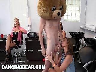 Dancing Bear   Cfnm Hair Salon Dick Party For Them Bitches%21