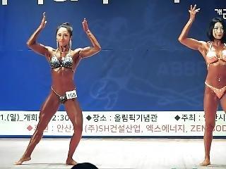 Strong Korean Fbb Posing