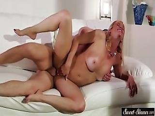 Cougar Stepmom Choked And Doggystyled