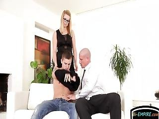Horny Jock Ass Mounted And Ravaged Deep In Mmf Threeway Before Babe Wanks