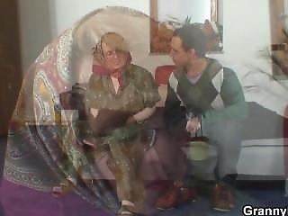 γιαγιά, μοναχική, ώριμη, μεγάλος, πραγματικότητα, νέα
