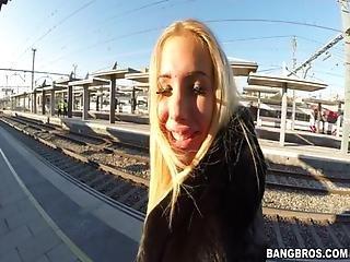 Kyra Hot In Public Train
