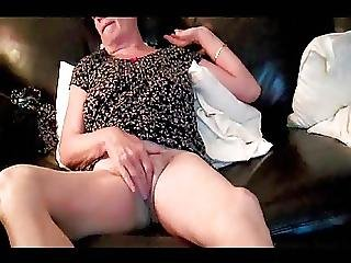 Unaware 68 Yr Granny Fingering Off On Spycam