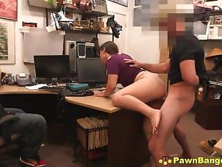 Dirty Teenage Bitch Caught Stealing Blows & Bangs Store Manager