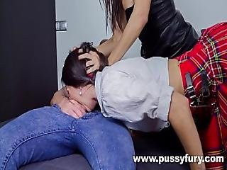 Samia Duarte And Alicia Poz In A Hardcore Threesome With Great Deepthroats