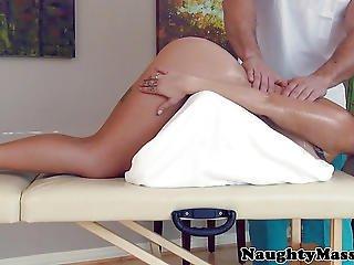 Assfucked Massage Beauty Gargling Some Cum