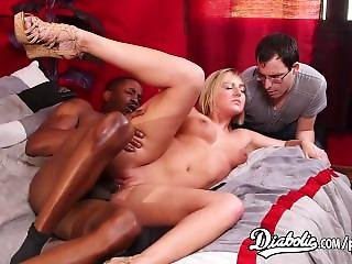 My Step Dad Watch Me Getting Drilled By A Big Fat Black Dick