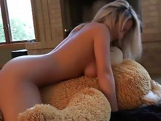 Nikki Sims Rides A Teddy Bear!
