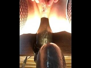 Huge Manoltih Dildo And Butt Plug In My Ass