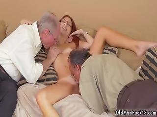 French Old Men And Hard Daddy This Girl Took It At Both Completes At The