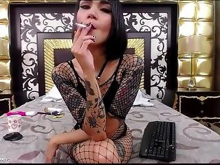 amatör, brud, brunett, dödshet, solo, tatuerad, webcam