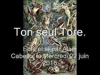Ton Seul Tore �crit Et Lu Par Le Po�te Gay Alain Cabello
