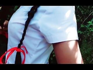 Sri Lankan School Girl Forest 1ස්කුල් චුටි කොල්ලට කත� කරන්න ක�ලේ රින්ගපුඑක1