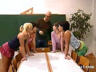 Reverse Gangbang For Schoolgirls