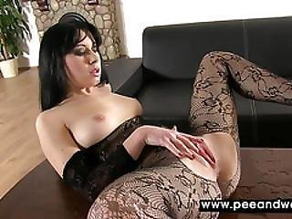 Hot Darling Spreads Her Cunt Wide Open