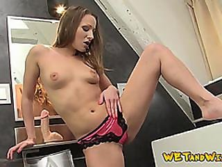 Hot Babe Pees The Toilet And Her Fuck Toy