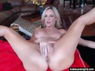Horny Sexy Mature Blonde Fucks And Talks