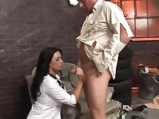 Tattooed Brunette Gets A Severe Banging With A Jumbo Penis