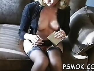 Naked Slutty Bitch Provokes While Enjoying Cigarette