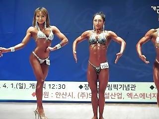 Sexy Strong Korean Fbb Posing