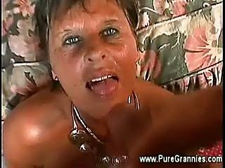 Granny Takes Young Cock Doggystyle