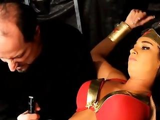 Hot Wonder Woman Paris Roxanne Dylan Is Being Trapped And Punished