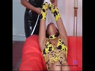 Fetish Concept Com Hard Bondage For A Brunette Teen