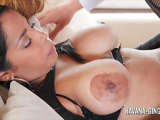 Havana Ginger Has A Threesome With A Shemale