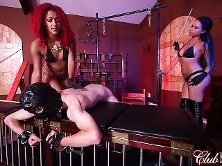 Two Mistress Use Slave