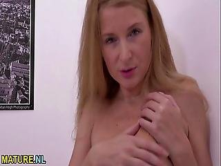 Hungarian Kinky Mom Fingering Herself