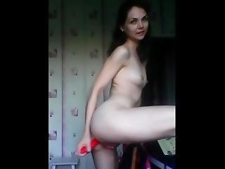 Long Toy Deep Inside Her Asshole