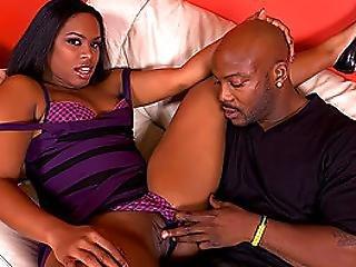 Big Booty Ebony Takes Internal Nut Bust