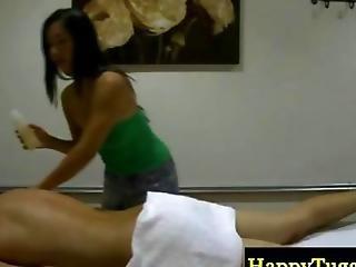 Asian Masseur Rubs Down Her Horny Client