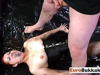 Busty Slut In Corset Small Cock Blowjob Hunter