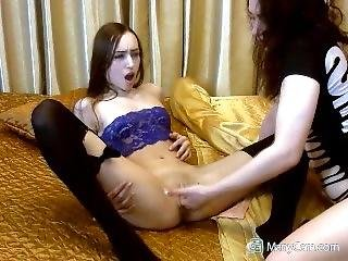Two Lesbians Fucking Pussies