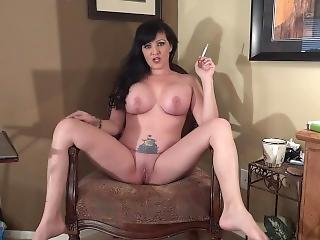 Smoking Trophy Wife Spreads Her Legs For You